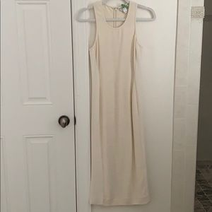 Pearl White Midi Dress